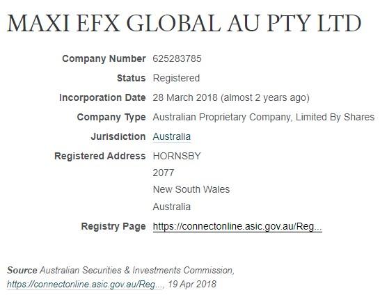 MAXI EFX GLOBAL Info