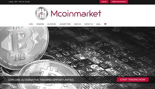 Mcoinmarket Homepage