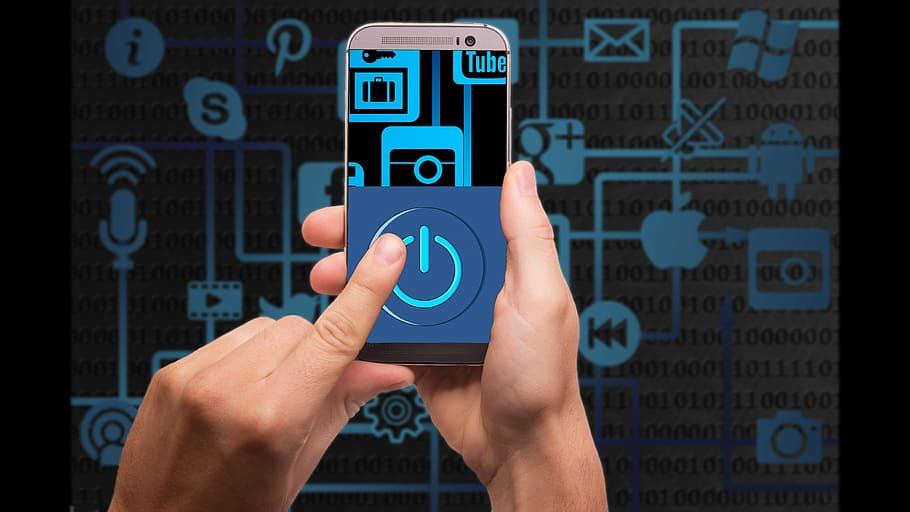 internet computer technology hand