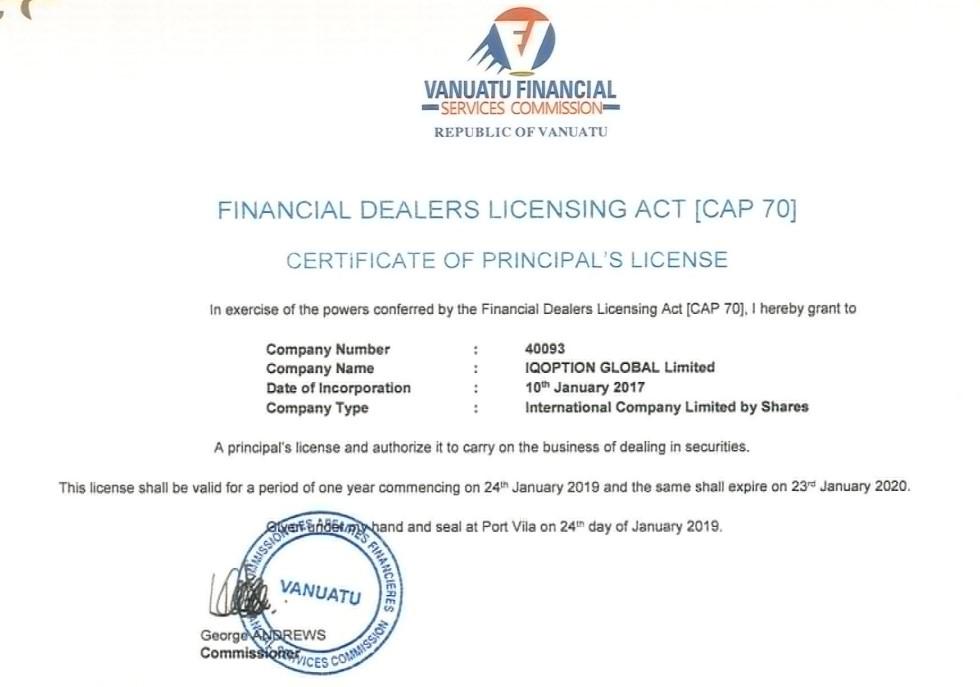 IQ Option License