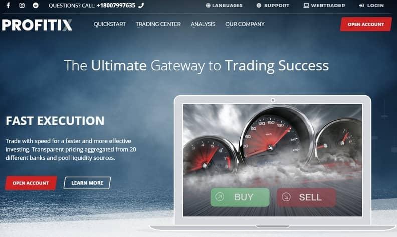 Profitix scam website