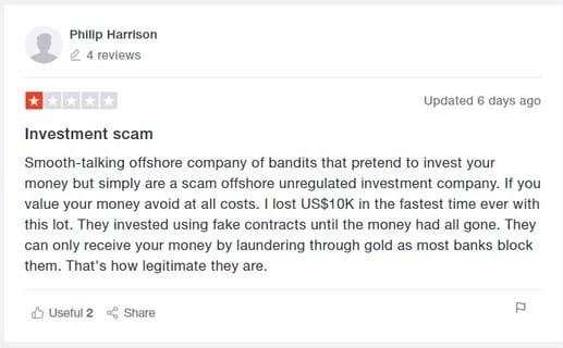 Forex scam victim
